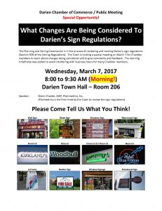 Signage in Darien: A Discussion with Planimetrics @ Darien Town Hall