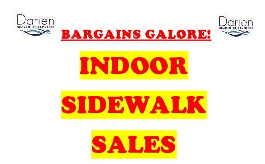 Indoor Sidewalk Sales @ Darien Shops and Boutiques